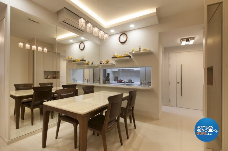 Minimalist, Modern Design - Dining Room - HDB 4 Room - Design by Starry Homestead Pte Ltd