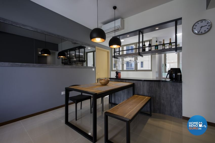 Industrial Design - Dining Room - Condominium - Design by Starry Homestead Pte Ltd