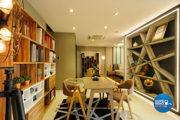 Eclectic, Modern Design - Study Room - Retail - Design by Starry Homestead Pte Ltd