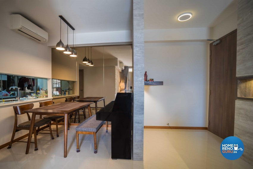 Industrial, Scandinavian Design - Living Room - Condominium - Design by Starry Homestead Pte Ltd