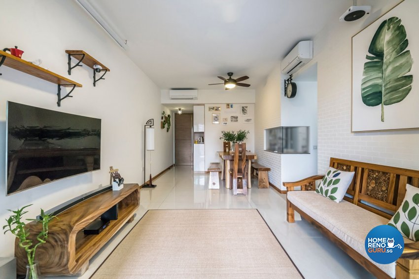 Resort, Scandinavian Design - Living Room - Condominium - Design by Starry Homestead Pte Ltd