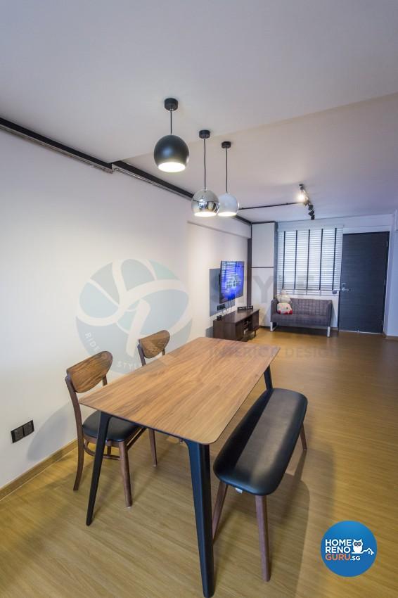 Industrial, Modern, Vintage Design - Dining Room - HDB 3 Room - Design by Stylerider Pte Ltd