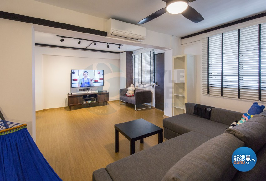 Industrial, Modern, Vintage Design - Living Room - HDB 3 Room - Design by Stylerider Pte Ltd
