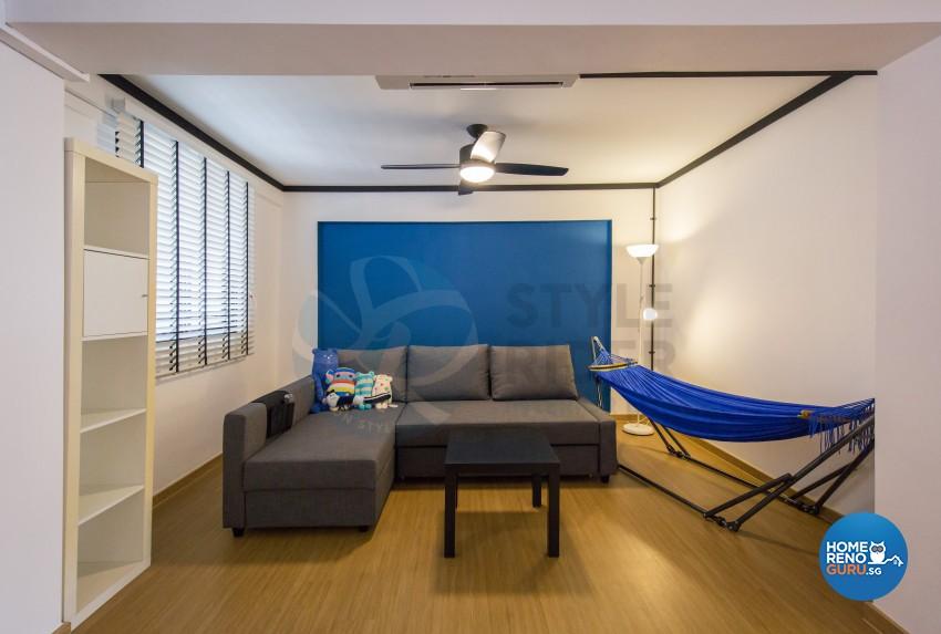 Industrial, Modern, Vintage Design - Living Room - HDB 3 Room - Design by Stylerider Pte Ltd