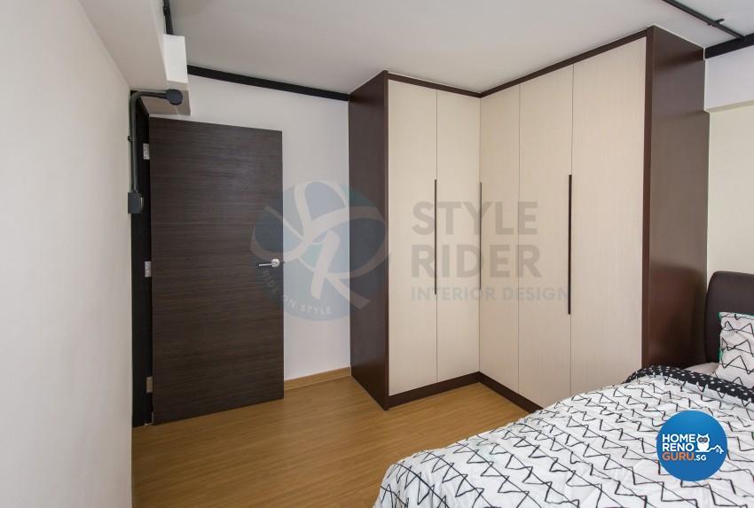 Industrial, Modern, Vintage Design - Bedroom - HDB 3 Room - Design by Stylerider Pte Ltd