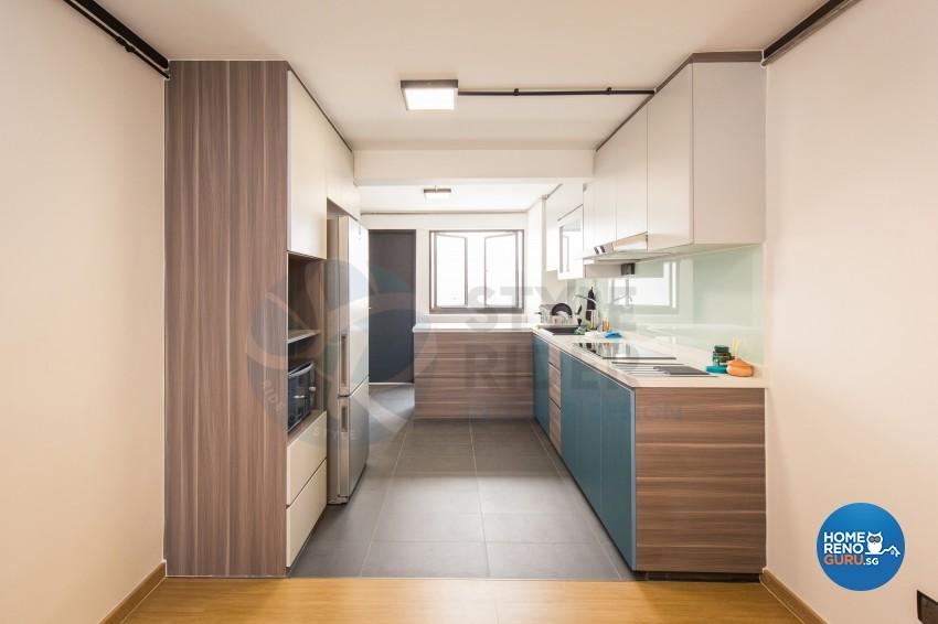 Industrial, Modern, Vintage Design - Kitchen - HDB 3 Room - Design by Stylerider Pte Ltd