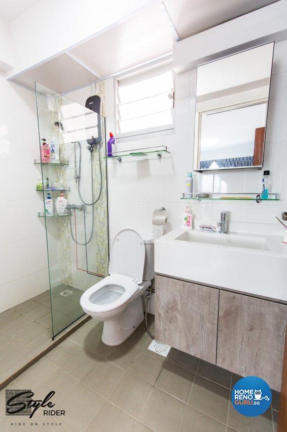Eclectic, Modern Design - Bathroom - HDB 5 Room - Design by Stylerider Pte Ltd