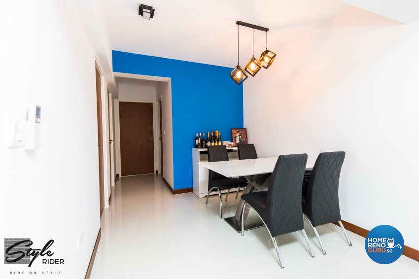 Eclectic, Modern Design - Dining Room - HDB 5 Room - Design by Stylerider Pte Ltd