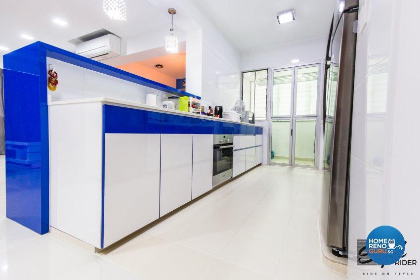 Eclectic, Modern Design - Kitchen - HDB 5 Room - Design by Stylerider Pte Ltd