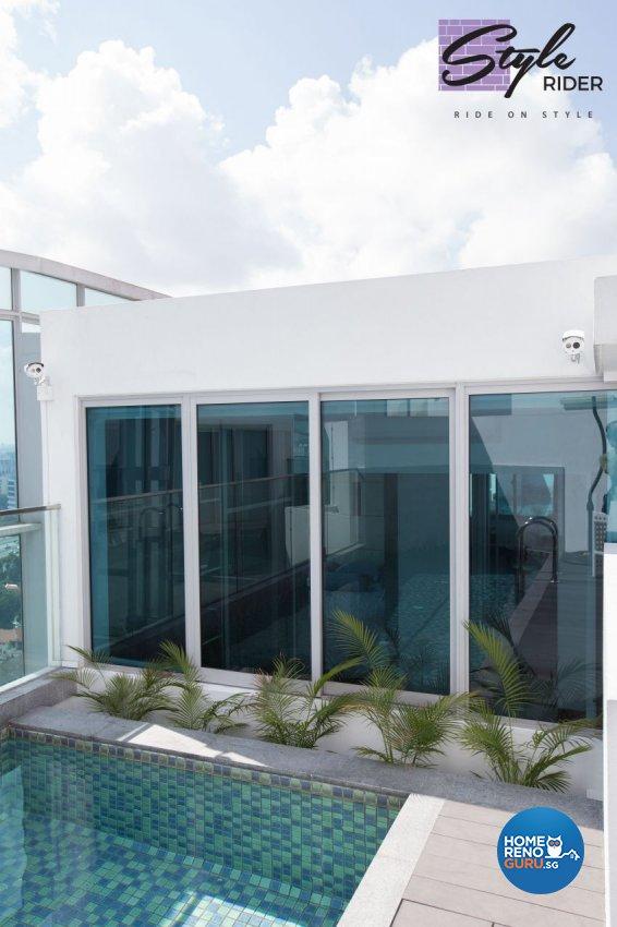 Modern Design - Balcony - Condominium - Design by Stylerider Pte Ltd