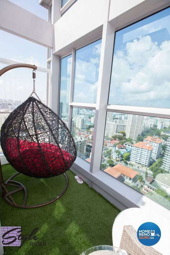 Modern Design - Balcony - Condominium - Design by Stylerider Pte Ltd