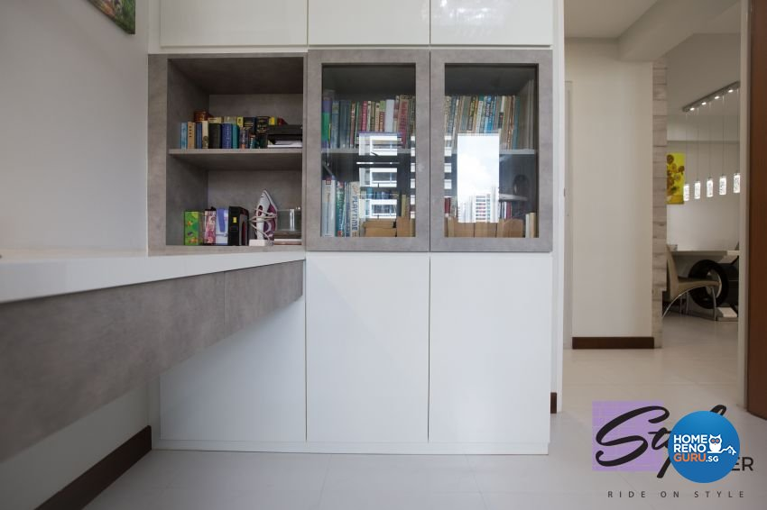 Classical, Contemporary, Modern Design - Study Room - HDB 5 Room - Design by Stylerider Pte Ltd