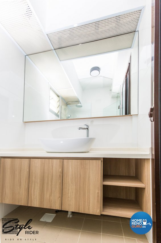 Country, Modern Design - Bathroom - HDB 4 Room - Design by Stylerider Pte Ltd