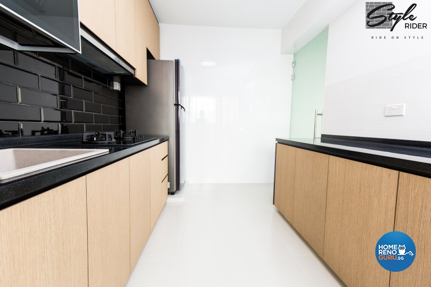 Country, Modern Design - Kitchen - HDB 4 Room - Design by Stylerider Pte Ltd