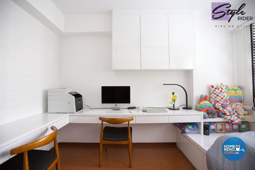 Modern, Scandinavian Design - Study Room - HDB 4 Room - Design by Stylerider Pte Ltd