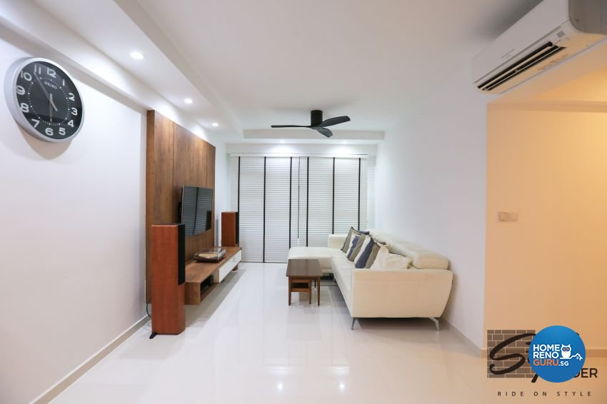 Modern, Scandinavian Design - Living Room - HDB 4 Room - Design by Stylerider Pte Ltd
