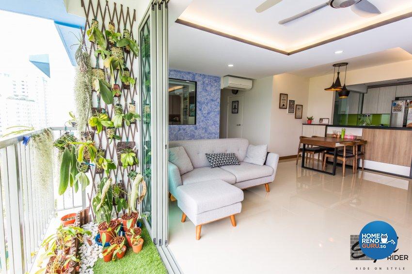 Eclectic, Modern, Scandinavian Design - Balcony - HDB 5 Room - Design by Stylerider Pte Ltd