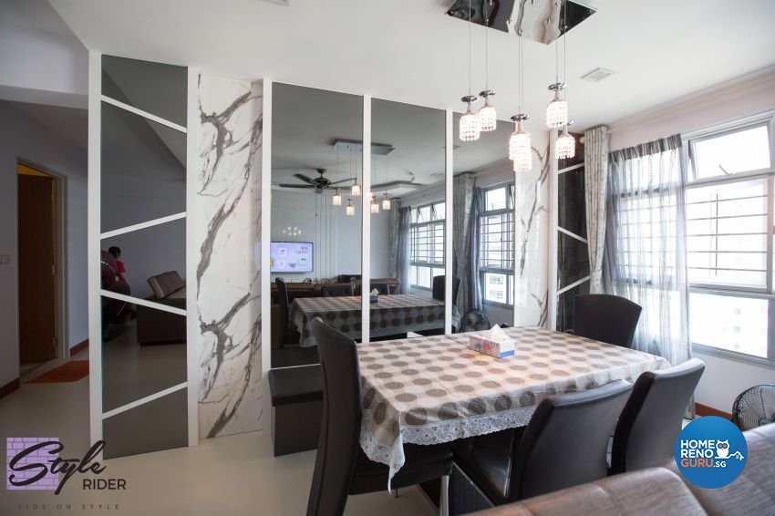 Classical, Contemporary, Modern Design - Dining Room - HDB 5 Room - Design by Stylerider Pte Ltd