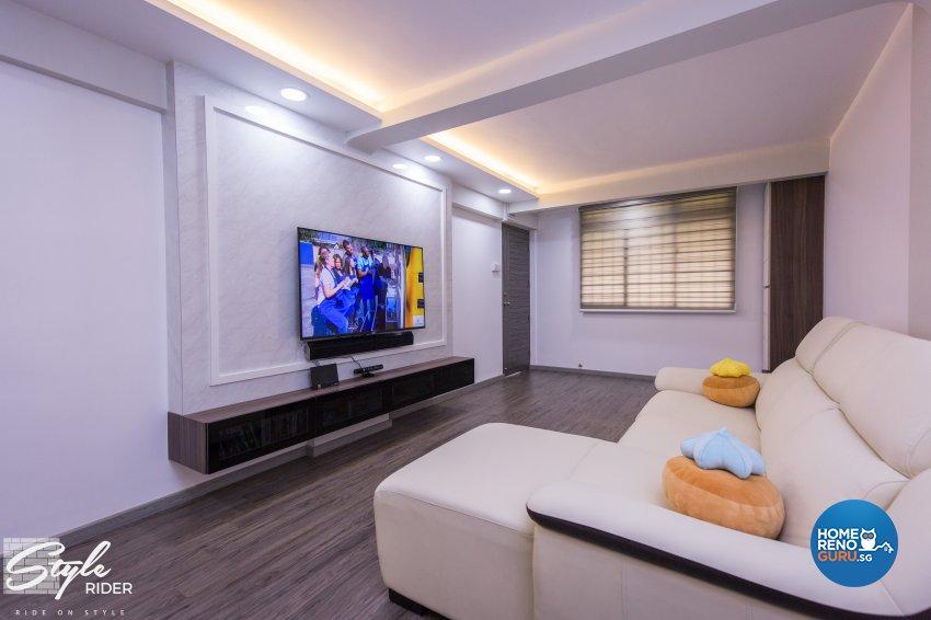 Classical, Contemporary, Minimalist Design - Living Room - HDB 3 Room - Design by Stylerider Pte Ltd