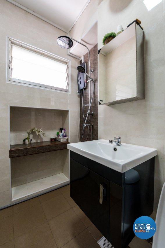 Contemporary, Country, Modern Design - Bathroom - HDB Executive Apartment - Design by Stylerider Pte Ltd