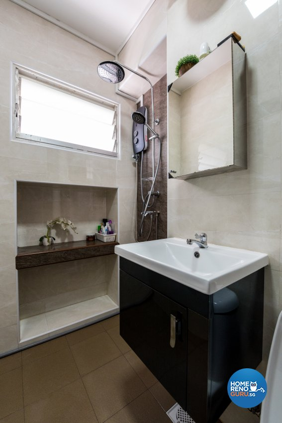 Contemporary, Country, Modern Design - Bathroom - HDB Executive Apartment - Design by Stylerider Pte Ltd
