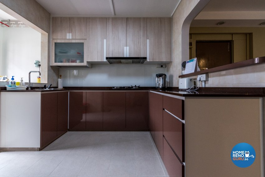Contemporary, Country, Modern Design - Kitchen - HDB Executive Apartment - Design by Stylerider Pte Ltd