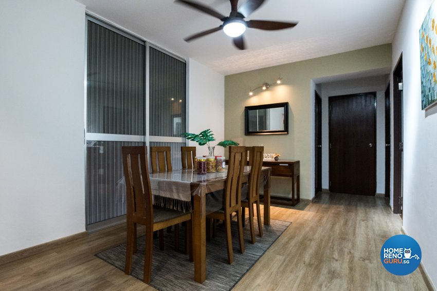 Contemporary, Country, Modern Design - Dining Room - HDB Executive Apartment - Design by Stylerider Pte Ltd