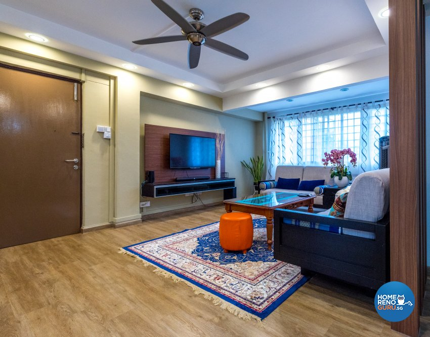 Contemporary, Country, Modern Design - Living Room - HDB Executive Apartment - Design by Stylerider Pte Ltd