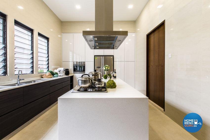Modern Design - Kitchen - Landed House - Design by Summerhaus D'zign Pte Ltd