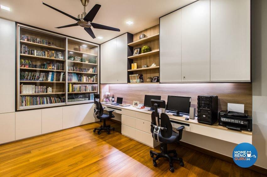 Modern Design - Study Room - Landed House - Design by Summerhaus D'zign Pte Ltd