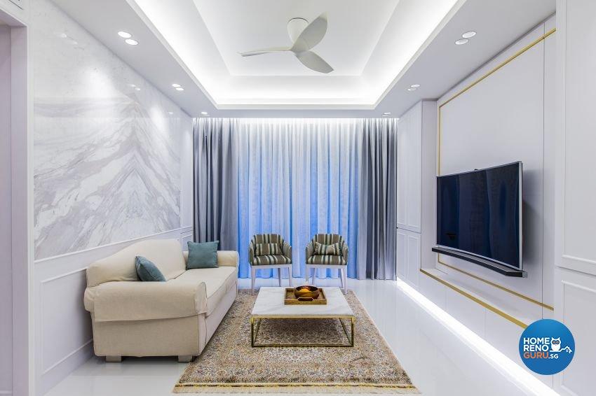 Classical, Modern, Victorian Design - Living Room - Condominium - Design by Summerhaus D'zign Pte Ltd