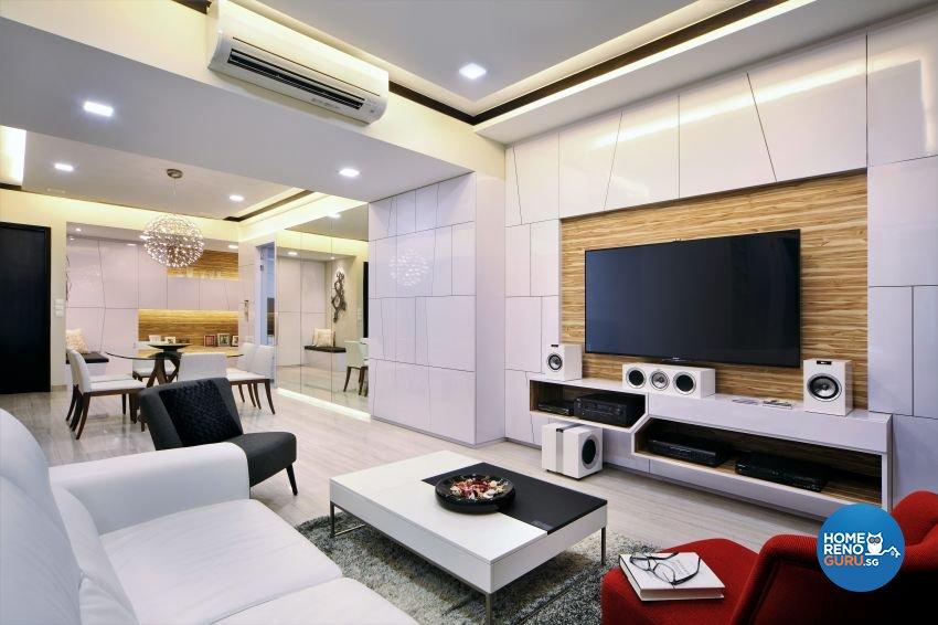 Contemporary, Modern Design - Living Room - Condominium - Design by Summerhaus D'zign Pte Ltd