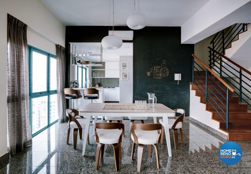 Eclectic Design - Dining Room - Condominium - Design by Summerhaus D'zign Pte Ltd