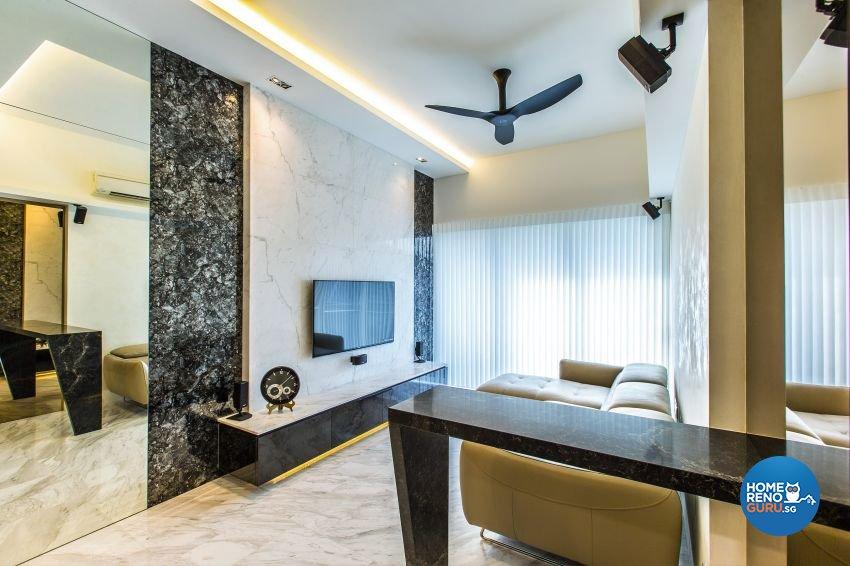 Modern Design - Living Room - Condominium - Design by Summerhaus D'zign Pte Ltd
