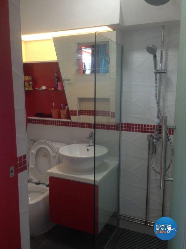 Minimalist, Modern Design - Bathroom - HDB 5 Room - Design by Summit Design Studio