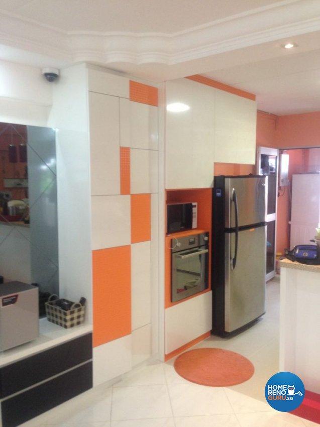 Minimalist, Modern Design - Kitchen - HDB 5 Room - Design by Summit Design Studio