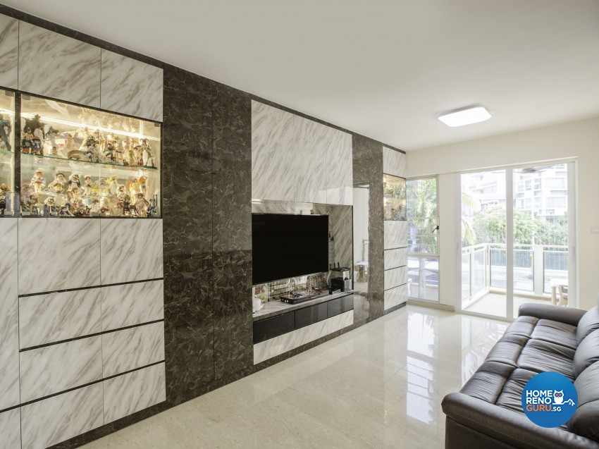 Contemporary Design - Living Room - Condominium - Design by Summit Design Studio