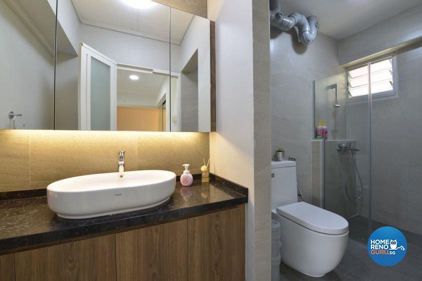 Modern Design - Bathroom - HDB 5 Room - Design by Summit Design Studio