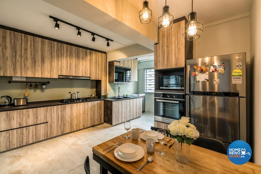 Industrial, Scandinavian Design - Kitchen - HDB 4 Room - Design by Summit Design Studio