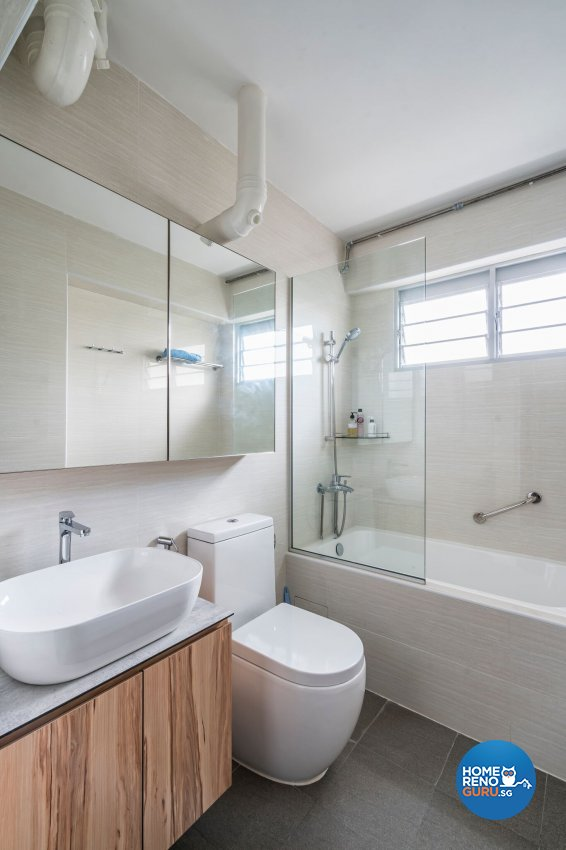 Industrial, Scandinavian Design - Bathroom - HDB 4 Room - Design by Summit Design Studio