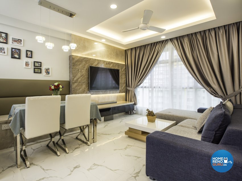 Contemporary, Modern Design - Living Room - HDB 4 Room - Design by Summit Design Studio