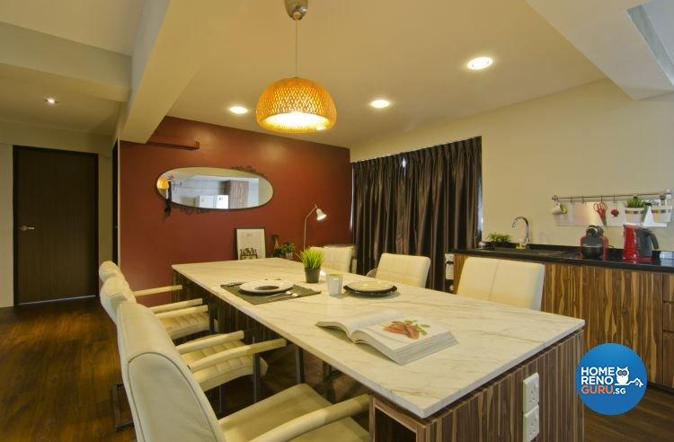 Country, Mediterranean Design - Dining Room - HDB 5 Room - Design by Summit Design Studio