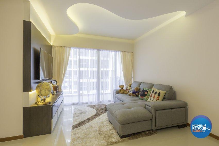 Modern Design - Living Room - Condominium - Design by Summit Design Studio