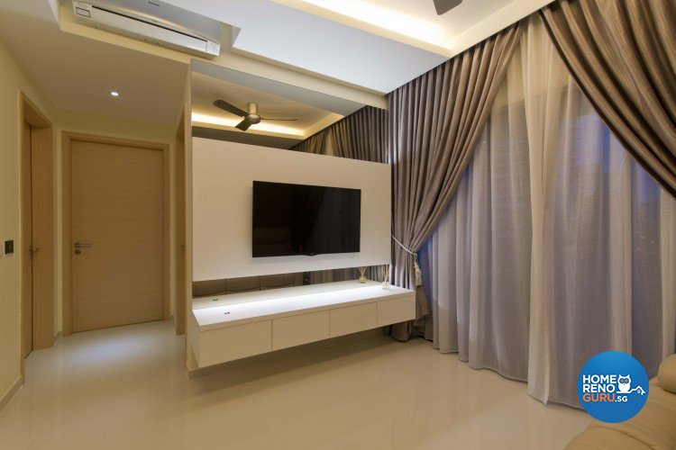 Classical, Contemporary, Modern Design - Living Room - HDB 4 Room - Design by Sun Hup Interior Contracts