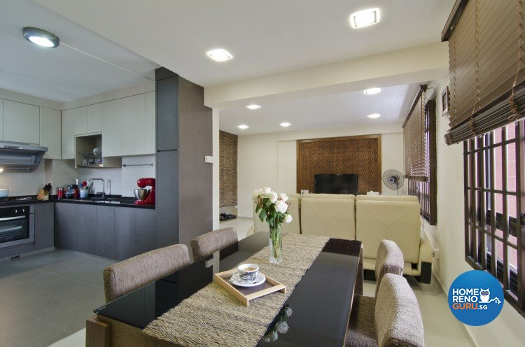Contemporary, Resort Design - Dining Room - HDB 4 Room - Design by Sun Hup Interior Contracts