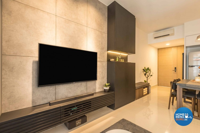 Industrial, Scandinavian Design - Living Room - Condominium - Design by Swiss Interior Design Pte Ltd
