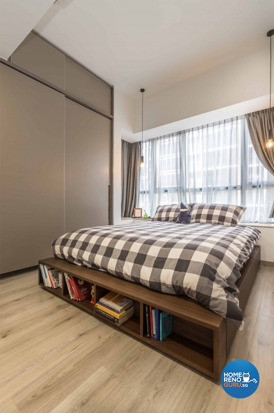 Industrial, Scandinavian Design - Bedroom - Condominium - Design by Swiss Interior Design Pte Ltd