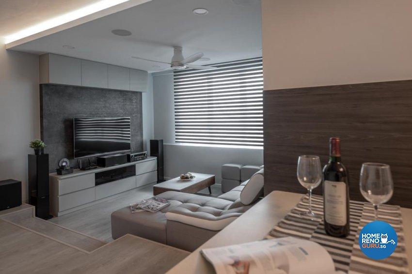 Contemporary, Modern Design - Living Room - Condominium - Design by Swiss Interior Design Pte Ltd