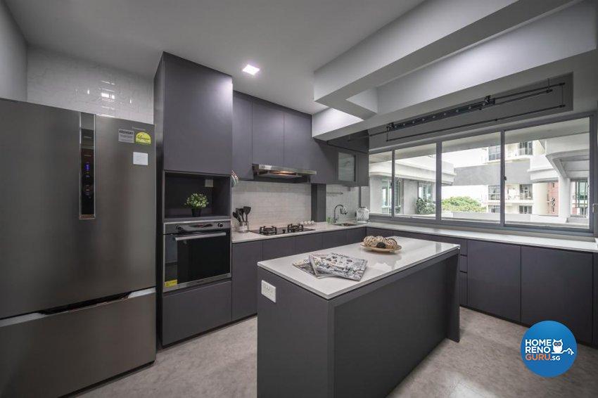 Contemporary, Modern Design - Kitchen - Condominium - Design by Swiss Interior Design Pte Ltd