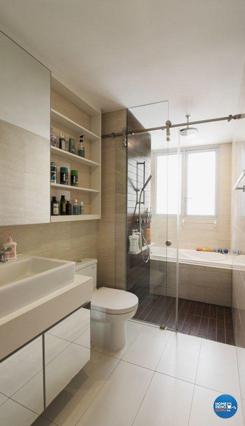 Modern Design - Bathroom - Landed House - Design by Swiss Interior Design Pte Ltd